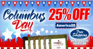 Columbus Day Coupon Code america25 for 25% Off